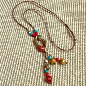 Jewelry - Brass Fish and Bead Necklace